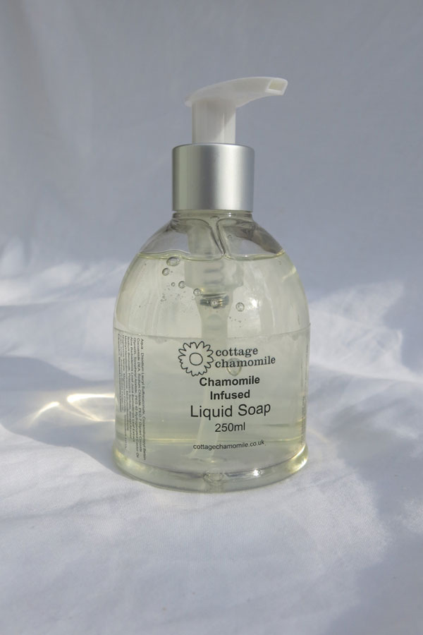 Chamomile infused liquid soap